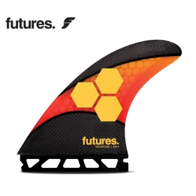 퓨처핀 - 서핑보드 핀 FUTURES FINS AM2 TECHFLEX ORANGE / RED - L
