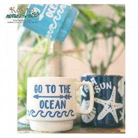 서핑 인테리어 소품 KAHIKO 머그컵 - GO TO THE OCEAN