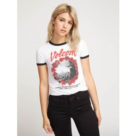 VOLCOM] 볼컴 우먼스 반팔티 SIDE STAGE RINGER TEE (WHITE COMBO)