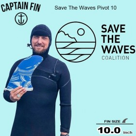 서핑롱보드핀 CAPTAIN FIN 10 SAVE THE WAVES PIVOT